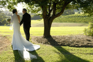 The grounds at Silos Estate Winery make a perfect wedding backdrop - photo copyright Katie Rivers Photography
